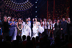 Stephanie J. Block, Bob Mackie, Jeffrey Seller, Jason Moore, Rick Elice and Christopher Gattelli and castduring the Broadway Opening Night Curtain Call of 'The Cher Show'  at Neil Simon Theatre on December 3, 2018 in New York City.