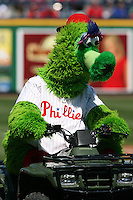 March 4, 2010:  Philadelphia Phillies mascot the Philly Phanatic entertains fans during a Spring Training game at Bright House Field in Clearwater, FL.  Photo By Mike Janes/Four Seam Images