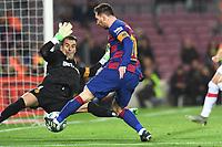Lionel Messi, Manuel Reina<br /> 07/12/2019 <br /> Barcelona - Maiorca<br /> Calcio La Liga 2019/2020 <br /> Photo Paco Largo Panoramic/insidefoto <br /> ITALY ONLY