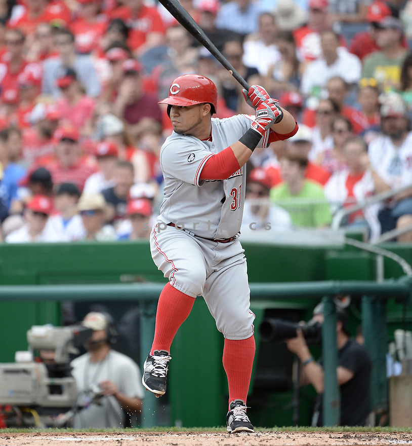 Cincinnati Reds Ramon Cabrera (37) during a game against the Washington Nationals on July 3, 2016 at Nationals Park in Washington DC. The Nationals beat the Reds 12-1.