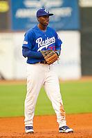 Ogden Raptors third baseman Bladimir Franco (27) on defense against the Orem Owlz at Lindquist Field on July 29, 2012 in Ogden, Utah.  The Owlz defeated the Raptors 6-4.   (Brian Westerholt/Four Seam Images)