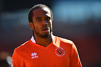 Blackpool's Nathan Delfouneso looks on<br /> <br /> Photographer Richard Martin-Roberts/CameraSport<br /> <br /> The EFL Sky Bet League One - Blackpool v Milton Keynes Dons - Saturday August 12th 2017 - Bloomfield Road - Blackpool<br /> <br /> World Copyright &copy; 2017 CameraSport. All rights reserved. 43 Linden Ave. Countesthorpe. Leicester. England. LE8 5PG - Tel: +44 (0) 116 277 4147 - admin@camerasport.com - www.camerasport.com