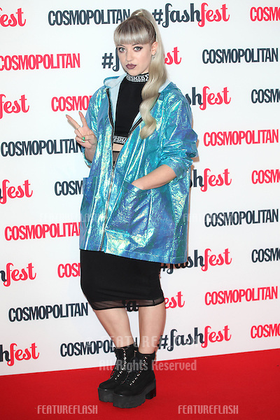 Leah McFall  arriving for the Cosmopolitan Fashfest, at Battersea Evolution, London. 18/09/2014 Picture by: Alexandra Glen / Featureflash