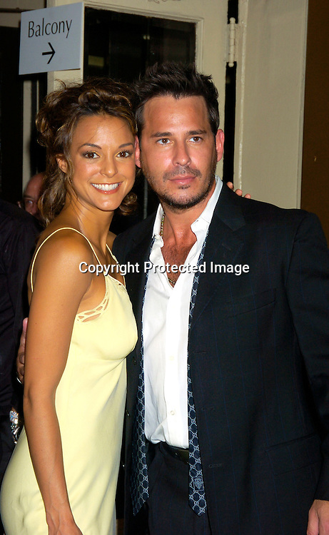 """Eva La Rue and Ricky Paull Goldin ..at the Broadway opening  of """" Dracula, The Musical"""" on ..August 19, 2004 at The Belasco Theatre in New York City...Photo by Robin Platzer, Twin Images"""