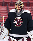 Ryan Edquist (BC - 35) - The Boston College Eagles practiced on the rink at Fenway Park on Friday, January 6, 2017.