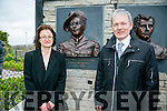 Unveiling of Wall of Remembrance for the The Ballykissane Tragedy Good Friday 1916 in Killorglin on Friday. Pictured l-r  Barbara McEvoy and Fintan McEvoy.