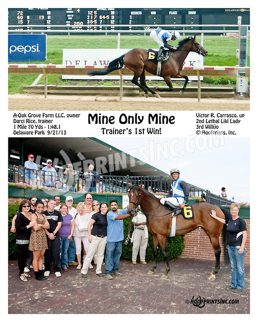 Mine Only Mine winning at Delaware Park on 9/21/13