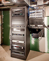 Clean Basement Equipment Rack