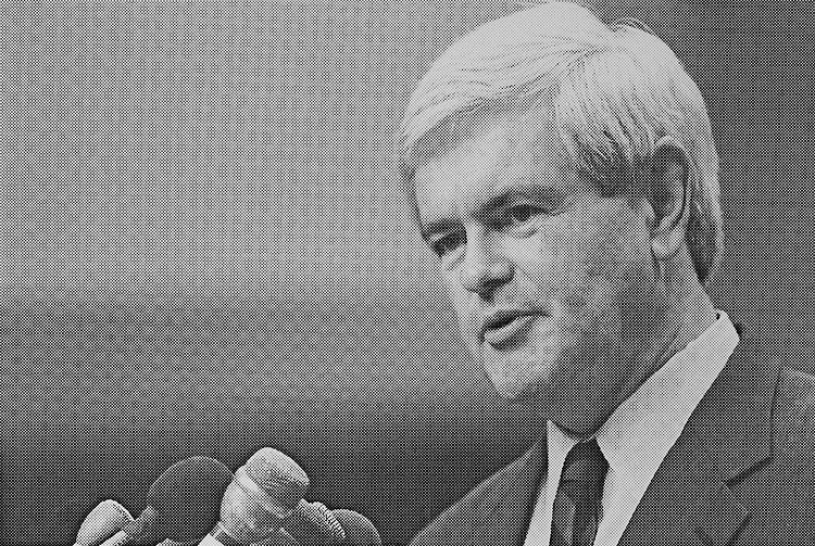 "Speaker of the House Rep. Newton Leroy ""Newt"" Gingrich, R-Ga., House of Representatives Member. March 26, 1998 (Photo by Rebecca Roth/CQ Roll Call)"