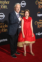 30 July 2018 - Burbank, California - Jim Cummings, Bronte Carmichael. Disney's 'Christopher Robin' Los Angeles Premiere held at Walt Disney Studios. <br /> CAP/ADM/FS<br /> &copy;FS/ADM/Capital Pictures