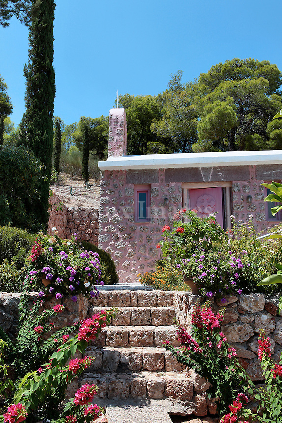 Jeannine and Greg Birbil chose to retire in Greece after living all over the world and built their modern house on the Pelopennese peninsula.