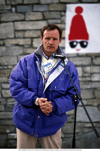 JEAN-CLAUDE KILLY (FRA), Vice-President of the '92 Winter Olympics, La Plagne, France 9102 Photo:Mike Hewitt/Action Plus...1991.olympic games.Skiing.Portrait.Sports Officials.winter sport.winter sports.wintersport.wintersports.alpine.ski.skier.man