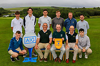 Co. Sligo winners of the AIG Barton Shield Connacht Pennant at the AIG Cups & Shields Connacht Finals 2019 in Westport Golf Club, Westport, Co. Mayo on Saturday 10th August 2019.<br /> <br /> Back Row: Niall McDermot, Daniel Ford, TJ Ford, Ruairi O'Connor, Alan Gaynor and Thomas Finnegan.<br /> Front Row: David Brady, Tom Ford, Kevin Flanagan (Captain Co.Sligo GC), Syrrat Heavy (Team Captain) and Cian Feeney. <br /> <br /> Picture:  Thos Caffrey / www.golffile.ie<br /> <br /> All photos usage must carry mandatory copyright credit (© Golffile | Thos Caffrey)
