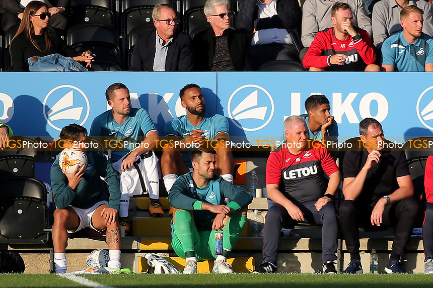 Gylfi Sigurdsson of Swansea City watches the first half from the substitute's bench during Barnet vs Swansea City, Friendly Match Football at the Hive Stadium on 12th July 2017