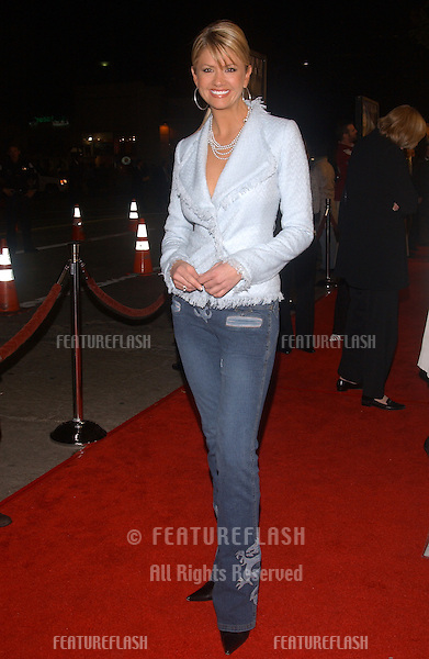TV presenter NANCY O'DELL at the world premiere, in Los Angeles, of Gothika..November 13, 2003