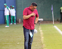 MONTERÍA - COLOMBIA ,31-08-2019: Diego Corredor director técnico de Patriotas Boyaca ante  Jaguares de Córdoba durante partido por la fecha 9 de la Liga Águila II 2019 jugado en el estadio Municipal Jaraguay de Montería . / Diego Corredor coach of Patriotas Boyaca agaisnt of  Jaguares of Cordoba during the match for the date 9 of the Liga Aguila II 2019 played at Municipal Jaraguay Satdium in Monteria City . Photo: VizzorImage / Contribuidor.