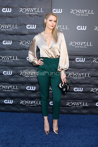 """WEST HOLLYWOOD, CA - JANUARY 10:  Lily Cowles at the """"Roswell, New Mexico"""" Experience at the 8801 Sunset Blvd on January 10, 2019 in West Hollywood, CA Credit: David Edwards/MediaPunch"""