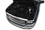 Car Stock 2017 GMC Sierra-1500 Crew-SLE 4 Door Pickup Engine  high angle detail view