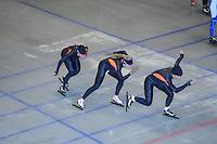 SCHAATSEN: HEERENVEEN: Thialf, 14-06-2012, Zomerijs, Laurine van Riessen, Annette Gerritsen, Diane Valkenburg, ©foto Martin de Jong