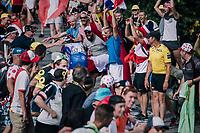 """Dutchie Ramon Sinkeldam (NED/Groupama-FDJ) coming through """"Dutch Corner"""" (#7) on Alpe d'Huez<br /> <br /> Stage 12: Bourg-Saint-Maurice / Les Arcs > Alpe d'Huez (175km)<br /> <br /> 105th Tour de France 2018<br /> ©kramon"""