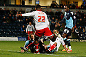 Chuks Aneke of Stevenage (on loan from Arsenal) tries to shoot. - Wycombe Wanderers v Stevenage - Adams Park, High Wycombe - 31st December 2011  .© Kevin Coleman 2011