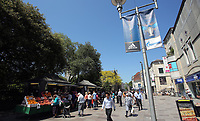 Pictured: Market stalls at the Hayes Cardiff Thursday 25 May 2017<br />Re: Preparations for the UEFA Champions League final, between Real Madrid and Juventus in Cardiff, Wales, UK.