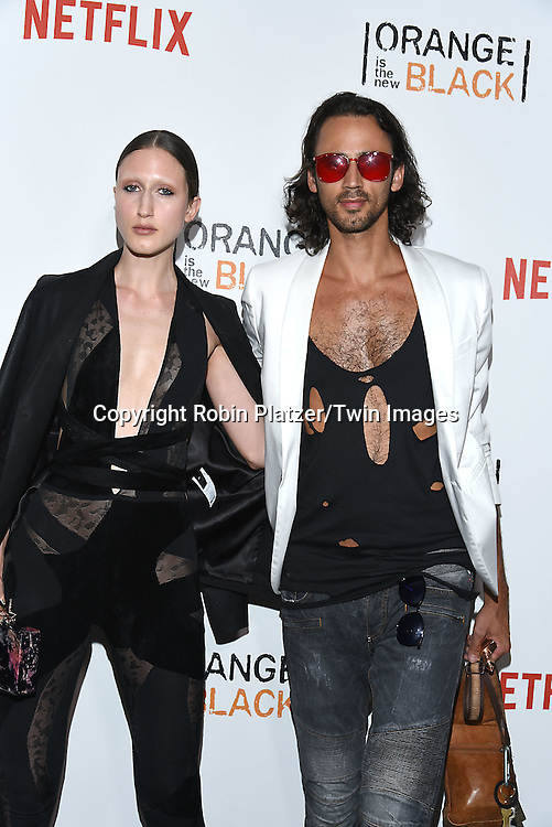model Anna Cleveland and brother Noel Cleveland attend NexFlix's &quot;Orange is the New Black&quot; 4th Season New York Premiereon June 16, 2016 at the SVA Theatre in New York City, NY, USA.<br /> <br /> photo by Robin Platzer/Twin Images<br />  <br /> phone number 212-935-0770