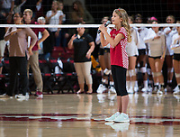 STANFORD, CA - September 9, 2018: Annika Barnes at Maples Pavilion. The Stanford Cardinal defeated #1 ranked Minnesota 3-1 in the Big Ten / PAC-12 Challenge.