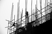 Construction Workers in Jing Jin New Town, China.  © LAN