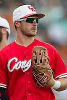 Houston Cougars outfielder Landon Appling (1) before the NCAA baseball game against the Texas Longhorns on June 6, 2014 at UFCU Disch–Falk Field in Austin, Texas. The Longhorns defeated the Cougars 4-2 in Game 1 of the NCAA Super Regional. (Andrew Woolley/Four Seam Images)