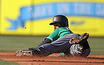 Arizona Diamondbacks' Jean Segura dives into second during a spring training game against the Chicago Cubs in Mesa, Ariz., on Thursday, March 17, 2016. The Cubs won 15-4. <br />Photo by Cathleen Allison