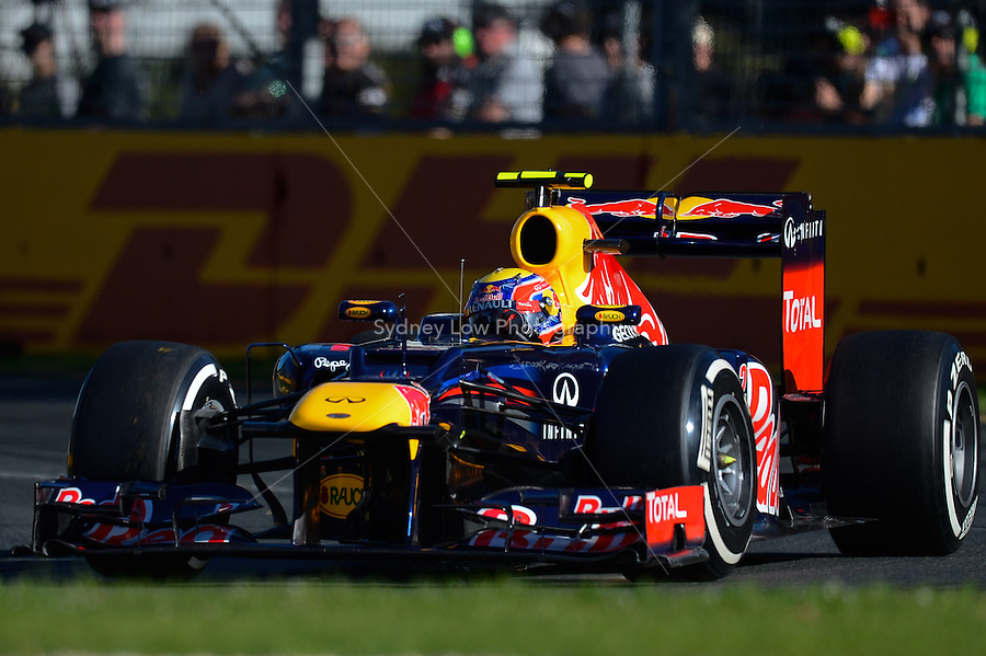 MELBOURNE, 17 March - Mark Webber of the Red Bull Racing Team qualifying for the 2012 Formula One Australian Grand Prix at the Albert Park Circuit in Melbourne, Australia. (Photo Sydney Low / syd-low.com)