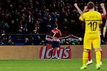 Atletico de Madrid's Antoine Griezmann celebrates goal during UEFA Champions League match between Atletico de Madrid and Borussia Dortmund at Wanda Metropolitano Stadium in Madrid, Spain. November 06, 2018. (ALTERPHOTOS/A. Perez Meca)