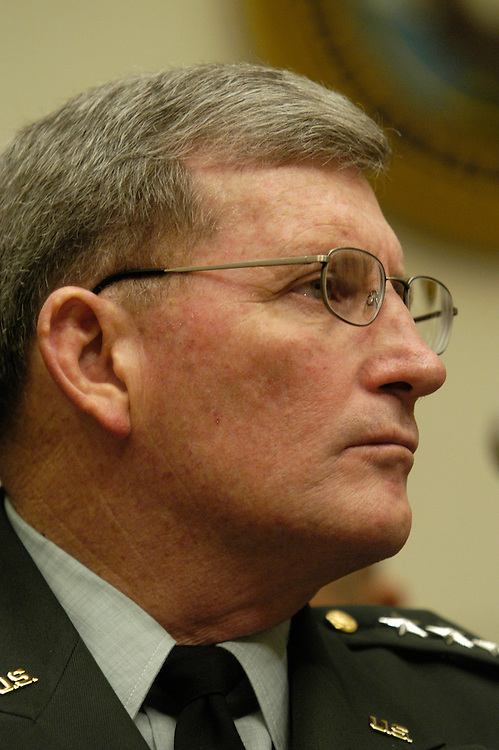 Gen. Peter Schoomaker, Army chief of staff, testifying at an Armed Services Committee hearing on conduct and support of Operation Iraqi Freedom.