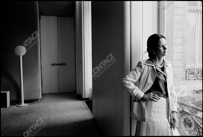French president's wife Anne-Aymone Giscard d'Estaing, Elysee palace, Paris, France, March 1977