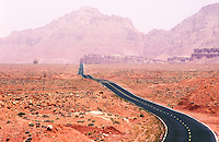 Lonesome highway in the American West.