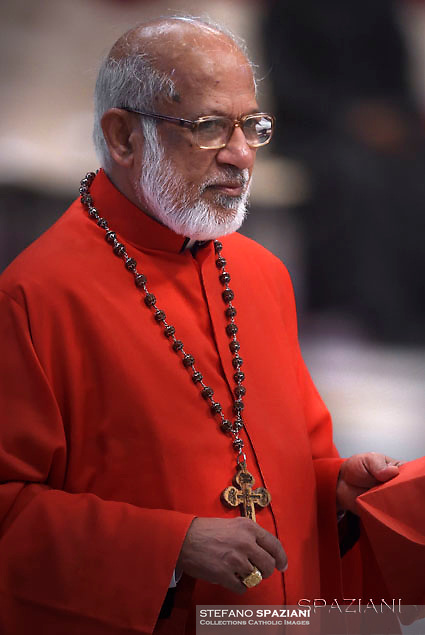 Indian cardinal George Alencherry ,Pope Francis leads a consistory for the creation of five new cardinals  at St Peter's basilica in Vatican.  from countries  : El Salvador, Laos, Mali,Sweden and Spain.<br /> Cardinal Gregorio Rosa Chavez from Salvador;Cardinal Louis-Marie Ling Mangkhanekhoun from Laos;Cardinal Anders Arborelius from Sweden;Cardinal Jean Zerbo from Mali;Cardinal Juan José Omella of Spain on June 28, 2017