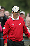 Padraig Harrington smiles after holing his putt on the 9th green during the final round of the Irish Open on 20th of May 2007 at the Adare Manor Hotel & Golf Resort, Co. Limerick, Ireland. (Photo by Eoin Clarke/NEWSFILE).