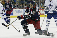 20 October 2006: Columbus Blue Jackets' Fredrik Modin plays against the Toronto Maple Leafs at Nationwide Arena in Columbus, Ohio.<br />