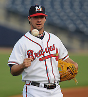 9 April 2008: Infielder Van Pope (8) of the Mississippi Braves, Class AA affiliate of the Atlanta Braves, in the season's home opener against the Mobile BayBears at Trustmark Park in Pearl, Miss. Photo by:  Tom Priddy/Four Seam Images