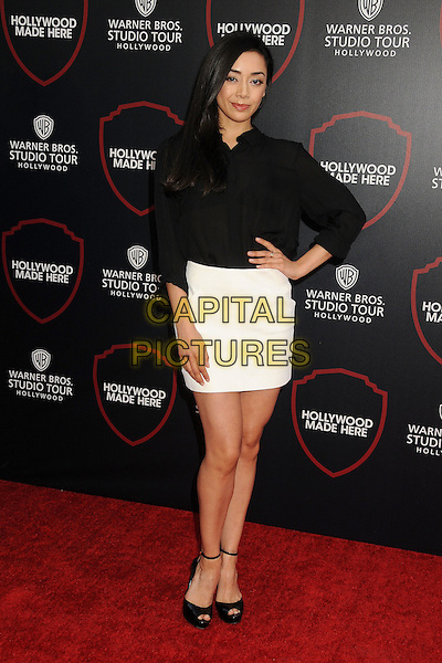 14 July 2015 - Burbank, California - Aimee Garcia. Warner Bros. Studio Tour Stage 48: Script to Screen Launch Event held at Warner Bros. Studios. <br /> CAP/ADM/BP<br /> &copy;BP/ADM/Capital Pictures