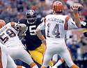 Pittsburgh Steeler Joe Greene (75), in action during a game against the Cincinnati Bengals on December 13, 1981at Three Rivers Stadium in Pittsburgh, Pennsylvania.  The Bengals beat the Steelers 17-10.
