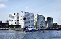 Nederland Amsterdam 2019. Het IJdock ( IJdok ) met het Paleis van Justitie. Foto Berlinda van Dam / Hollandse Hoogte