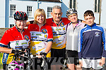 Anne bergen, Bridget O'Connor, Jerry Fagin, Sheila McCarthy, and Conor O'Sullivan who cycled  in the Currow CC cycle in aid of Castleisland Day care centre on Sunday