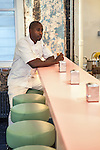 André Saraiva's new Cafe Henri  in Chinatown. At the counter is the chef Marquis Hayes. <br /> <br /> Danny Ghitis for The New York Times