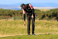 Rafa Cabrera Bello (ESP) dropping his ball on the 17th during Round 3 of the Alfred Dunhill Links Championship 2019 at St. Andrews Golf CLub, Fife, Scotland. 28/09/2019.<br /> Picture Thos Caffrey / Golffile.ie<br /> <br /> All photo usage must carry mandatory copyright credit (© Golffile | Thos Caffrey)