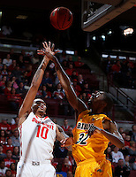Ohio State Buckeyes forward LaQuinton Ross (10) is guarded by North Dakota State Bison forward TrayVonn Wright (32) during the first half of Saturday's NCAA Division I basketball game at Value City Arena in Columbus on December 14, 2013.(Barbara J. Perenic/The Columbus Dispatch)