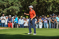 Rory McIlroy (NIR) after sinking his birdie putt on 7 during round 1 of the World Golf Championships, Mexico, Club De Golf Chapultepec, Mexico City, Mexico. 2/21/2019.<br /> Picture: Golffile | Ken Murray<br /> <br /> <br /> All photo usage must carry mandatory copyright credit (© Golffile | Ken Murray)