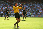 24 April 2004: Referee Ricardo Valenzuela during the first half. The Chicago Fire defeated DC United 1-0 at RFK Stadium in Washington, DC on opening day of the regular season in a Major League Soccer game..