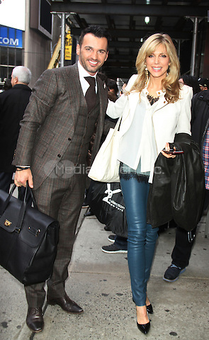 03 08, 2016: Marla Maples and Tony Dovolan of Dancing With the Stars Season 22  at Planet Hollywood Time Square in New York. Credit:RW/MediaPunch